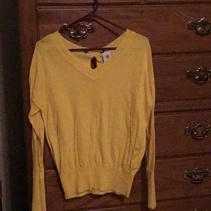 Cabi canary yellow sweater
